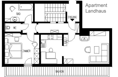 Layout Apartment TYPE E Landhaus